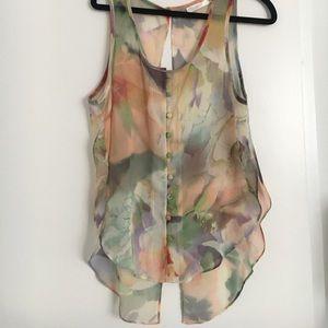 Millau floral sheer blouse